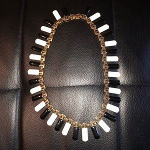 Trendy Black and White Necklace